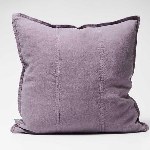 Eadie Luca Linen Cushion - Aubergine