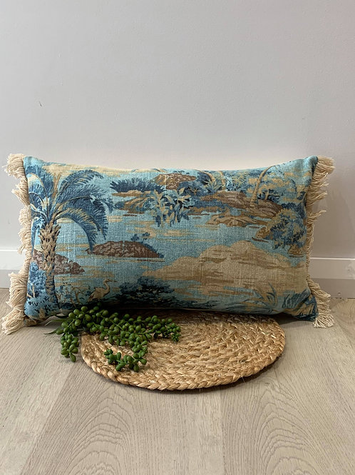 OBLONG PALM TREE CUSHION