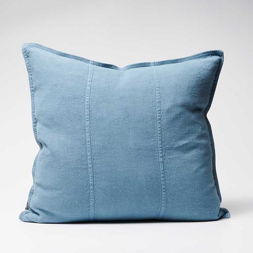 Eadie Luca Linen Cushion - Blue Azure