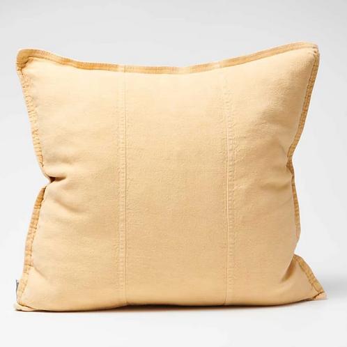 Eadie Luca Linen Cushion -Mustard