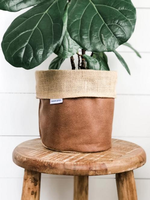 Tan Faux Pot Plant Cover