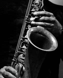 Saxophone and hands