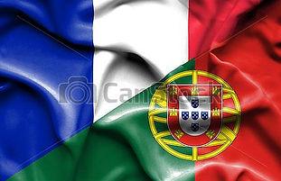 bandeira-acenando-portugal-frança-clip-