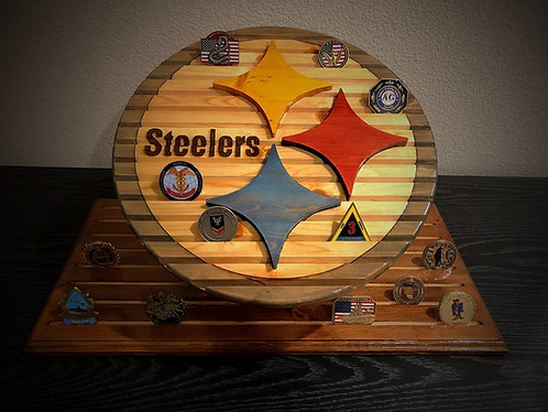 Pittsburgh Steelers Challenge Coin Display