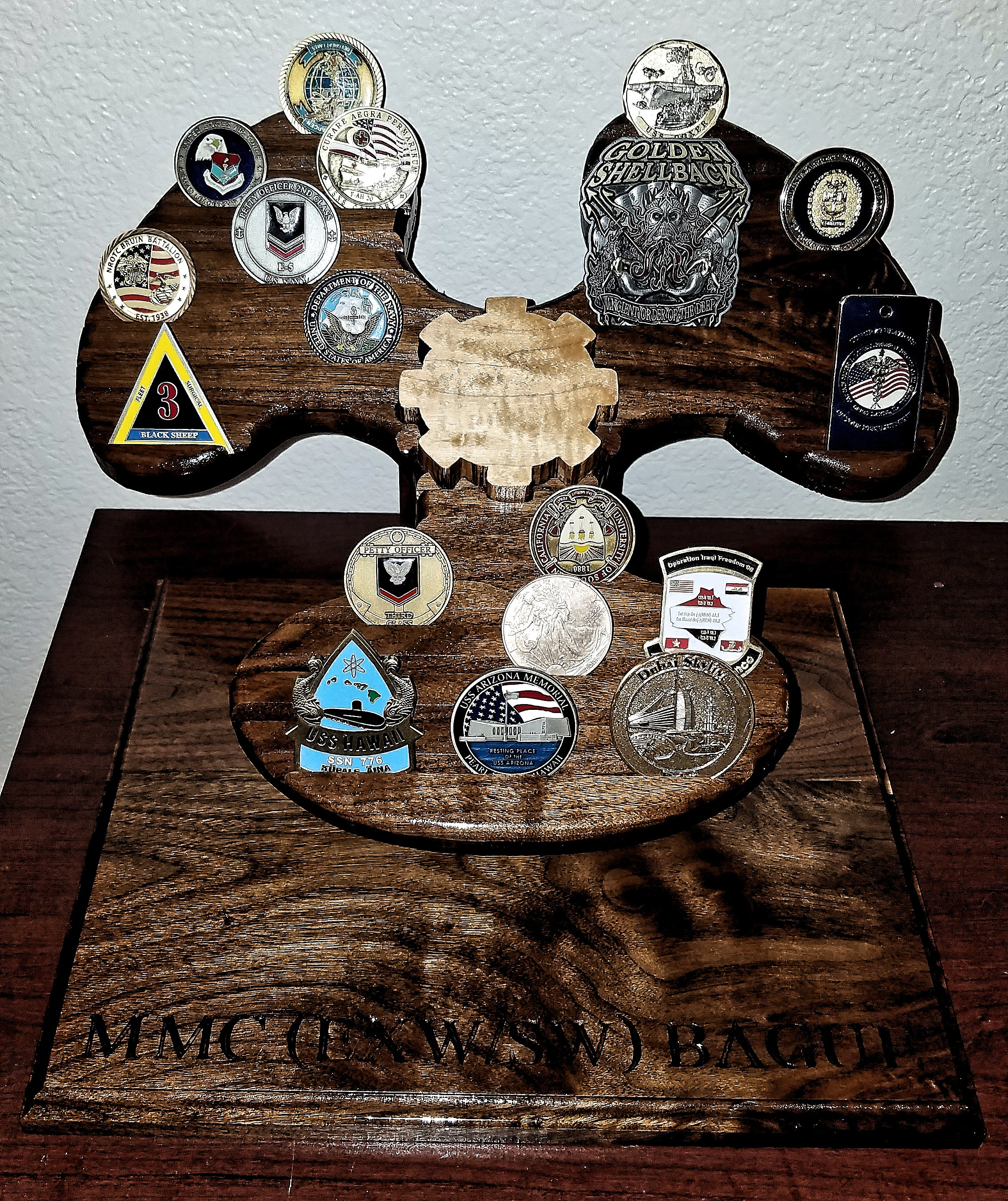 MM Challenge Coin Display | J & M's Working Wood