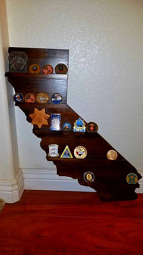 California challenge coin wall mount