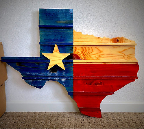 Texas Challenge Coin Holder Wall Mount