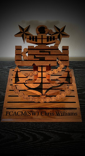 Navy Chief Challenge Coin Holder