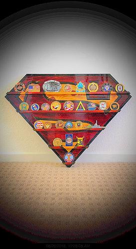 Superman Wall Mounted Challenge Coin Display