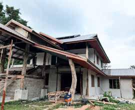 มุงพียูโฟมบ้านทรงไทย
