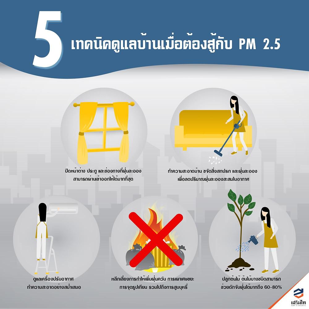 5 เทคนิคดูแลบ้านเมื่อต้องสู้กับ PM 2.5