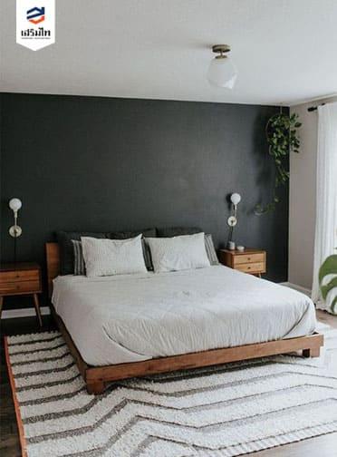 ห้องนอนสไตล์มินิมอล Minimal โทนสีเทา