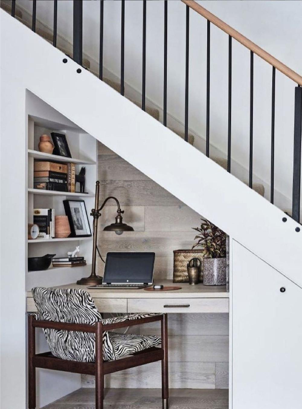 corner under the stairs