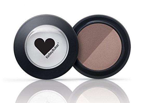 KellyBaker Brows Powder Duo: Brown/Dark Brown