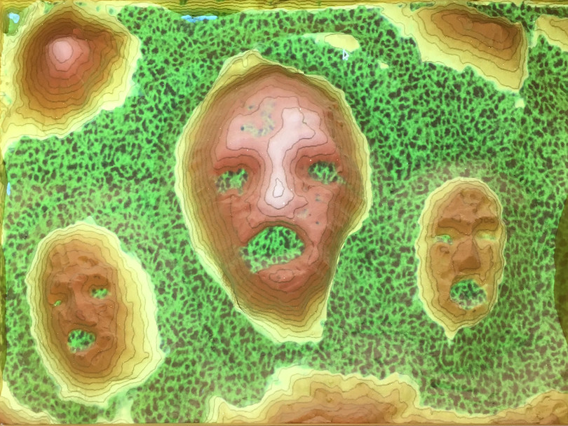 Screaming Islands in Toxic Waste