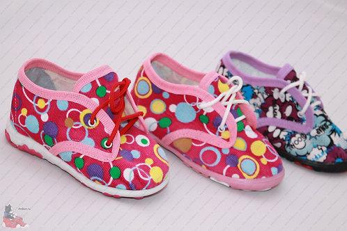Летние текстильные туфли (туфельки)