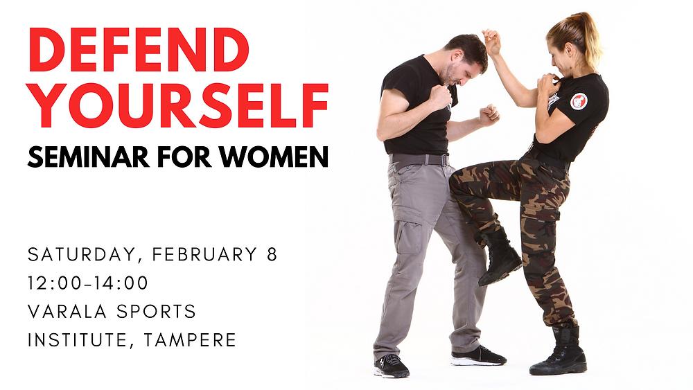 Self-defense seminar for women in Tampere, Finland