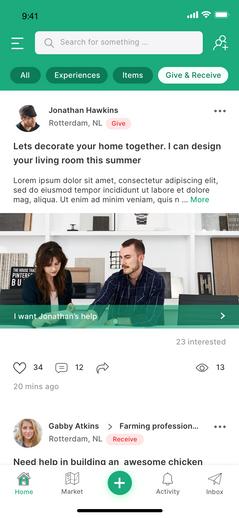 Nomos app - Home screen