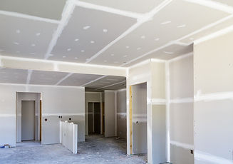 Finished Sheetrock in New Home Construct