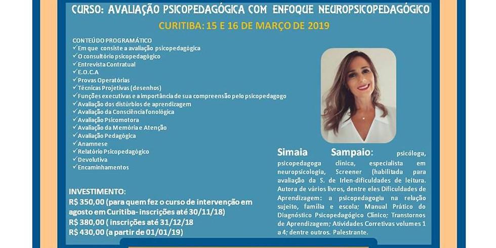 CURSO: AVALIAÇÃO PSICOPEDAGÓGICA COM ENFOQUE NEUROPSICOPEDAGÓGICO