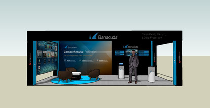 Exhibition booth for one of Nettobe products