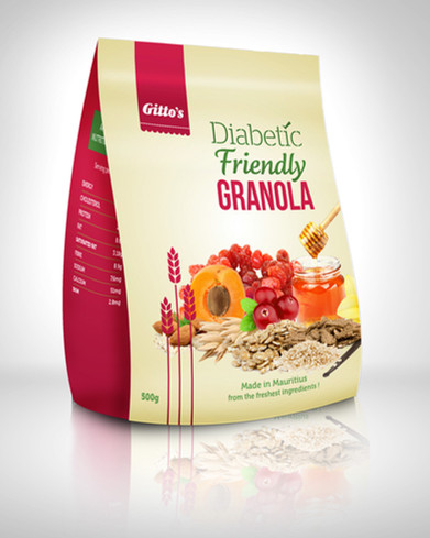Gitto's new Diabetic-friendly product Packaging