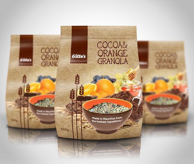 Gitto's Granola Cocoa-Orange Packaging