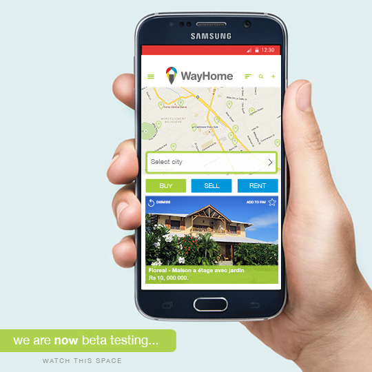 Mobile app WayHome screen App store