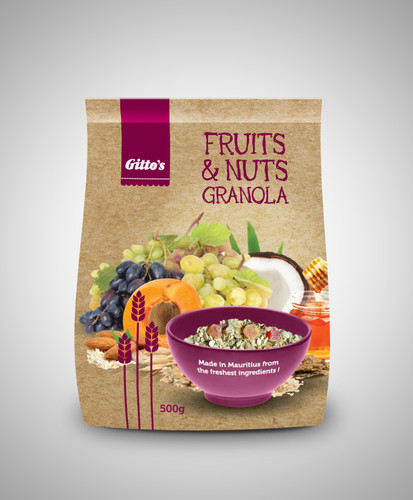 Gitto's Granola-Fruits&Nuts Packaging