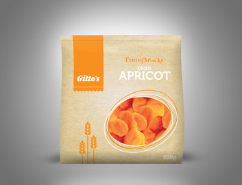 Gitto's Dried Apricot New Packaging