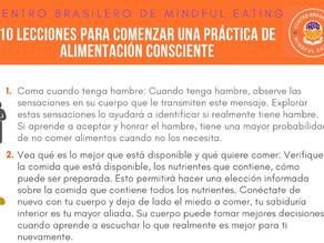 10 LECCIONES PARA COMENZAR UNA PRÁCTICA DE ALIMENTACIÓN CONSCIENTE