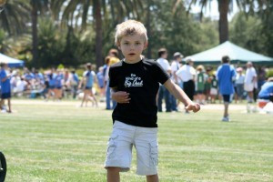 """Theo at age 6 when he began his """"Baby Giraffe Syndrome"""" walk."""