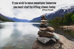 Stones build mountains