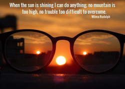 Sunrise on glasses