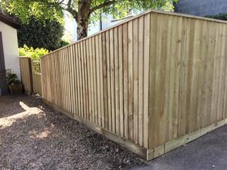 feather edge garden fencing