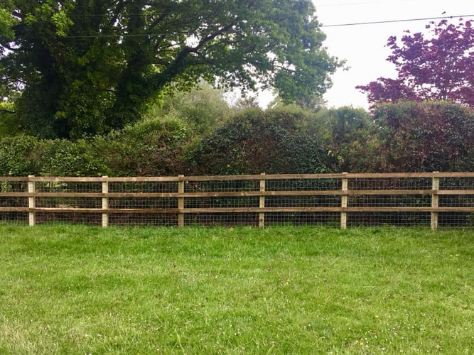 Square post and rail horse netting