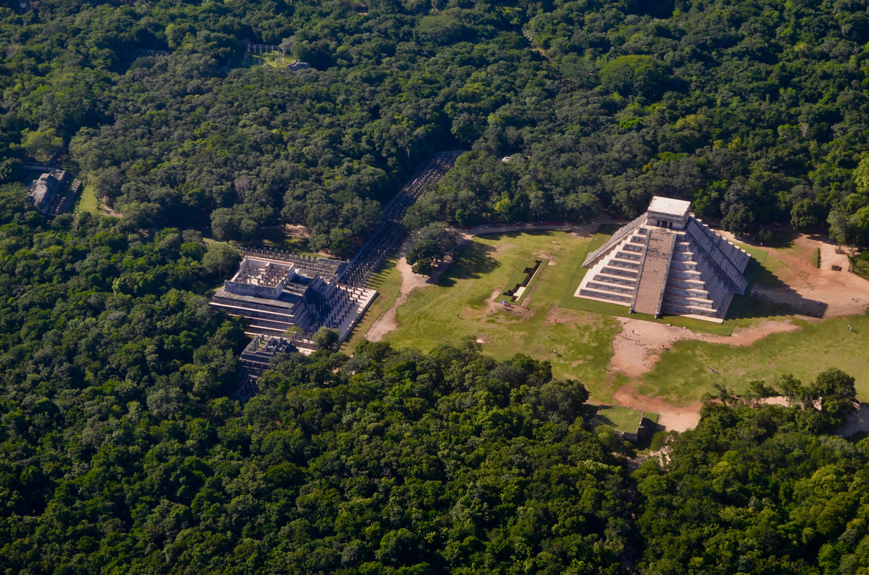 Chichen Itza from the airplane