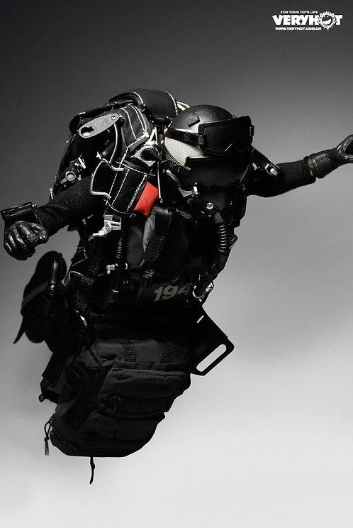 Chuteur HAHO - NAGEUR noir des Navy Seals