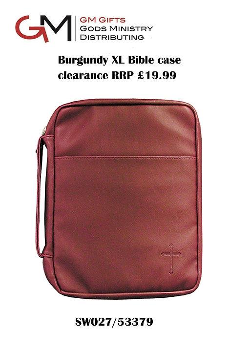 XL Burgundy bible case imitation leather