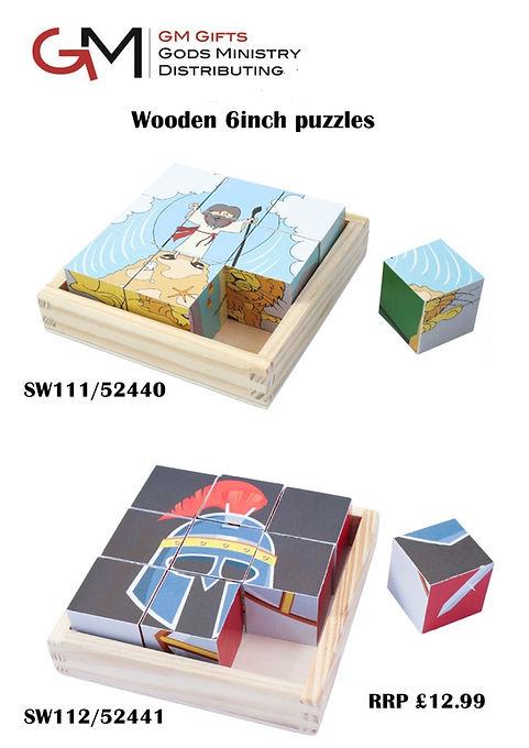 Swanson April Wooden Puzzles sales sheet
