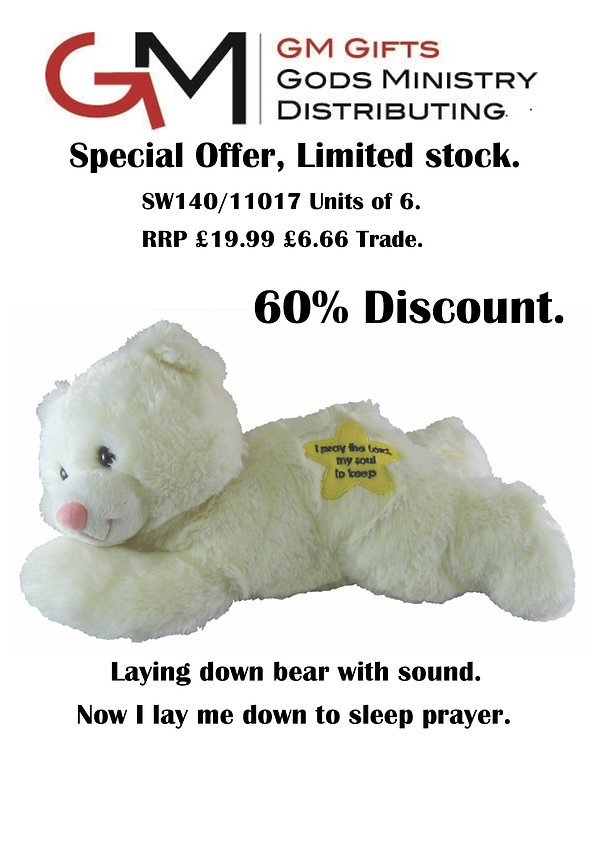 11017 sales sheet Plush Bear with sound.