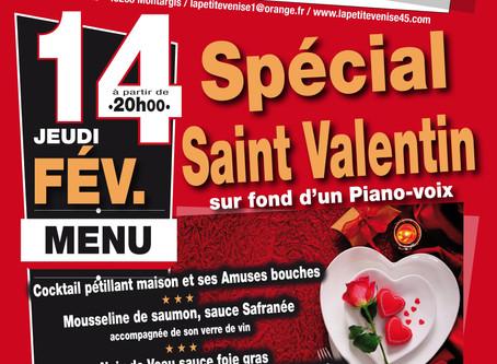 Spécial Saint Valentinsur fond d'un Piano-voix