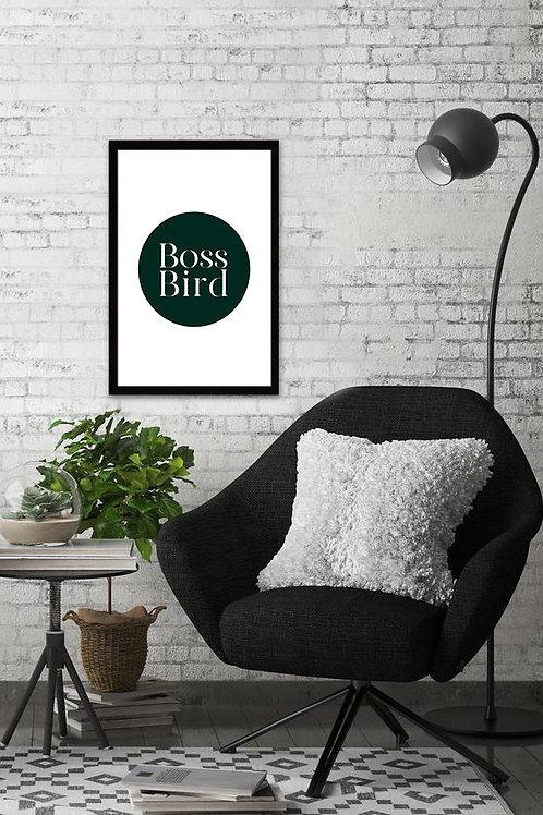 Green Boss Bird Print