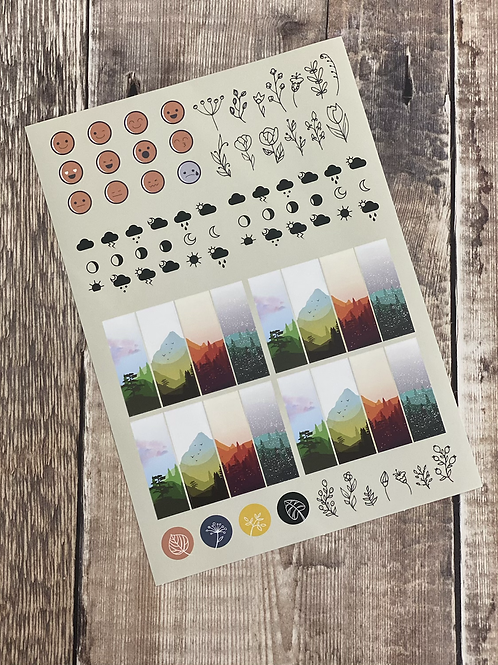Nature inspired sticker pack