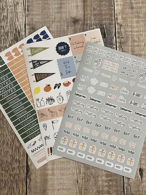 Triple planner sticker pack