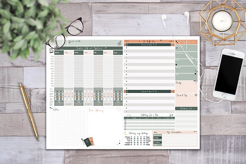 A3 Weekly Desk Planner Pad