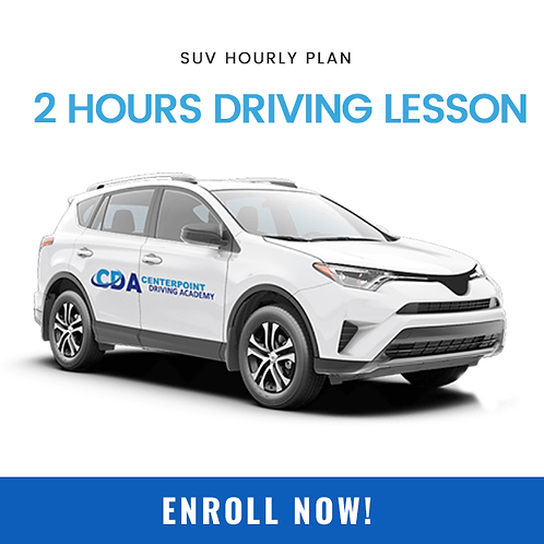 SUV hourly plan 2hours driving lesson