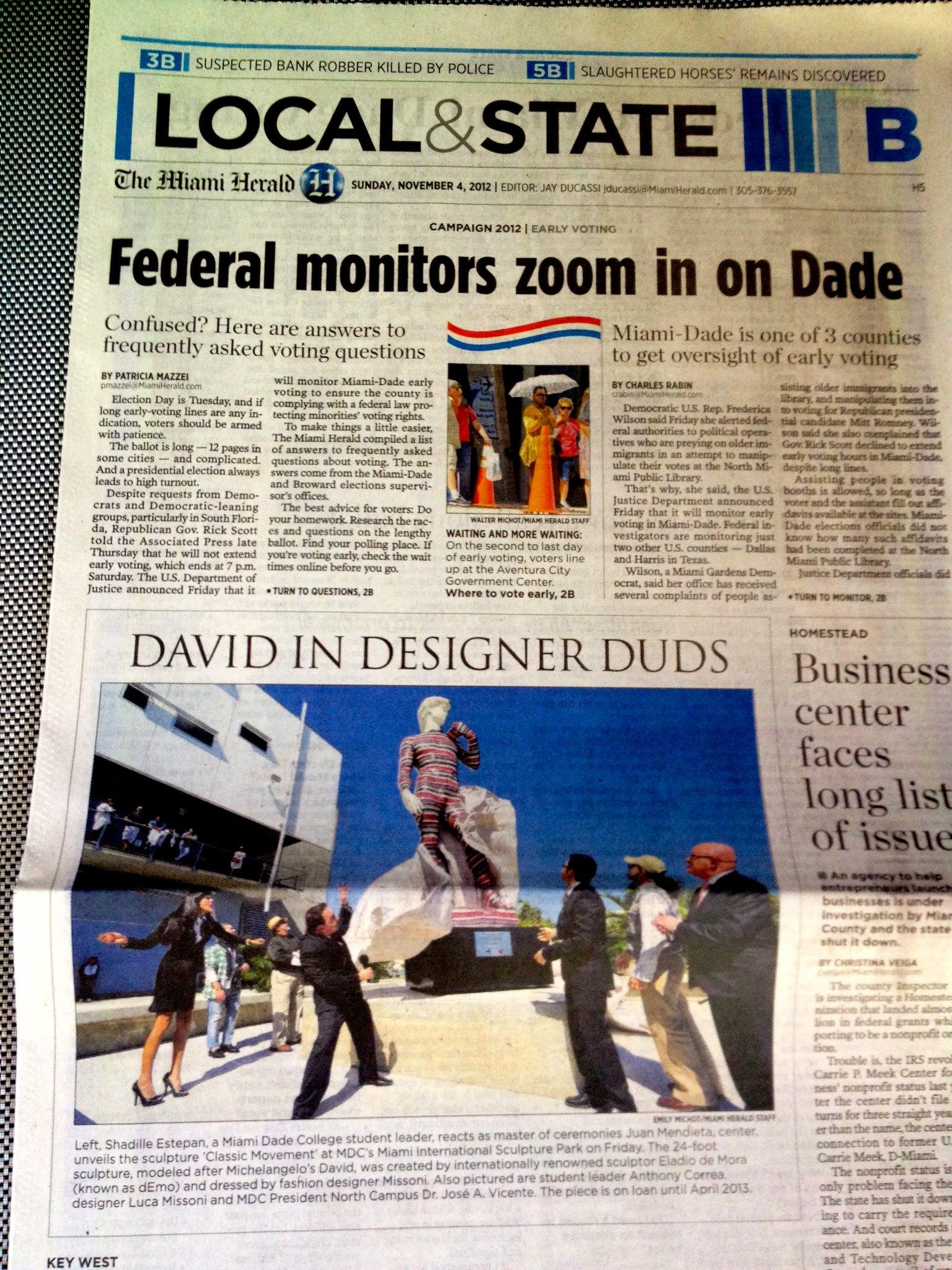 El David in -The Miami Herald-