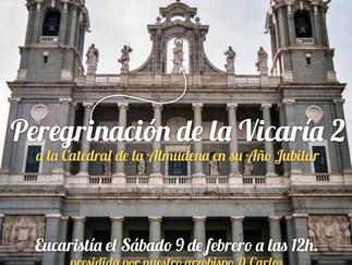 Peregrinación a la catedral de la Almudena con motivo del año jubilar.
