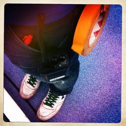 Sharpie+tape- Floor Runners Bootcamp